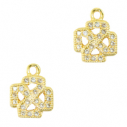 Zirconia charm cross Gold
