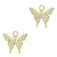 Zirconia charm butterfly Gold