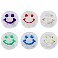 Acrylic letter beads smiley Transparent-Multicolour