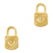 Stainless steel charms lock Gold
