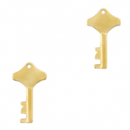 Stainless steel charms key Gold