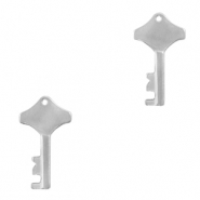 Stainless steel charms key Silver