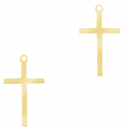 Stainless steel charms cross Gold