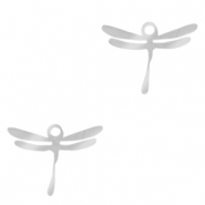 Stainless steel charms dragonfly Silver