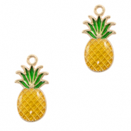Metal charms pineapple Gold-Yellow