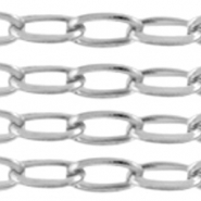 Stainless steel findings belcher chain anchor cable Silver