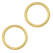 Stainless steel findings jump ring 10mm Gold