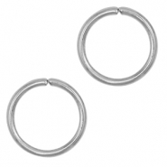 Stainless steel findings jump ring 10mm Silver