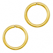 Stainless steel findings jump ring 7mm Gold