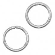 Stainless steel findings jump ring 7mm Silver