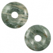 Natural stone charm disc Multicolour Grey