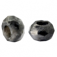 Natural stone faceted beads Anthracite