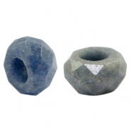 Natural stone faceted beads Jeans Blue