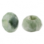 Natural stone faceted beads Green Ash