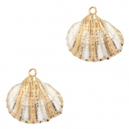 Shell pendant specials Scallop Off White-Gold