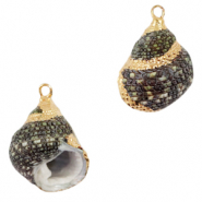 Shell pendant specials Whelks Mix Grey-Gold