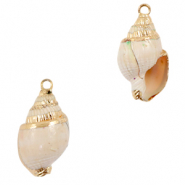 Shell pendants specials Whelks Off White-Gold