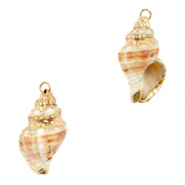 Shell pendants specials Whelks Creamy Light Brown-Gold