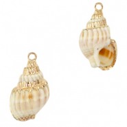 Shell pendants specials Whelks Creamy White-Gold