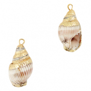 Shell pendants specials Whelks Beige White-Gold