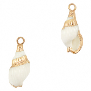 Shell pendants specials Whelks White-Gold