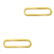 Stainless steel charms/connector oval Gold