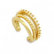 Zirconia ear cuff Gold