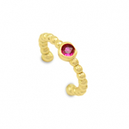 Zirconia ear cuff Gold-Red
