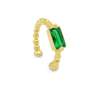 Zirconia ear cuff Gold-Green