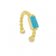 Zirconia ear cuff Gold-Blue