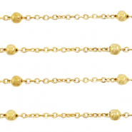 Stainless steel findings belcher chain ball Gold