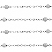 Stainless steel findings belcher chain ball Silver