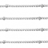 Stainless steel findings belcher chain curb links ball Silver