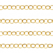 Stainless steel findings belcher chain anchor cable Gold
