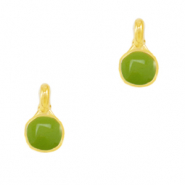 DQ European metal charms Green-Gold (nickel free)