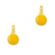 DQ European metal charms Tropical Yellow-Gold (nickel free)