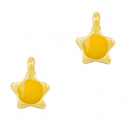 DQ European metal charms star Tropical Yellow-Gold (nickel free)