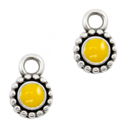DQ European metal charms Tropical Yellow-Antique Silver (nickel free)