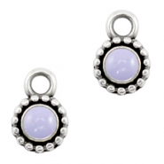 DQ European metal charms Lilac Purple-Antique Silver (nickel free)
