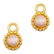 DQ European metal charms Pearl Light Pink-Gold (nickel free)
