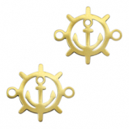 Stainless steel charms/connector steering wheel Gold