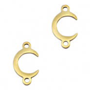Stainless steel charms/connector horn Gold