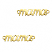 "Stainless steel charms/connector ""mama"" Gold"