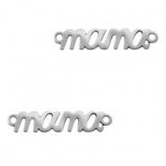 "Stainless steel charms/connector ""mama"" Silver"