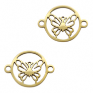 Stainless steel charms/connector butterfly Gold