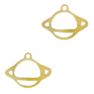 Stainless steel charms planet Gold