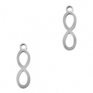 Stainless steel charms infinity Silver