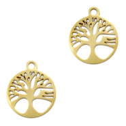Stainless steel charms tree of life Gold