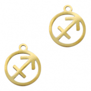 Stainless steel charms zodiac sign Sagittarius Gold