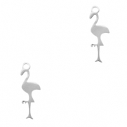 Stainless steel charms flamingo Silver